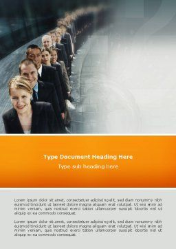 Personnel Word Template, Cover Page, 02805, Consulting — PoweredTemplate.com