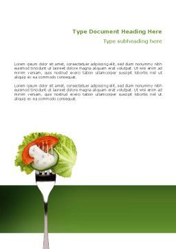 Salad Word Template, Cover Page, 02807, Food & Beverage — PoweredTemplate.com