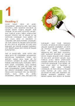 Salad Word Template, First Inner Page, 02807, Food & Beverage — PoweredTemplate.com