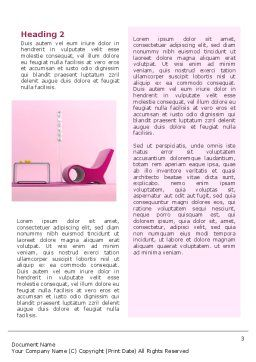Modern Interior Design Word Template Second Inner Page