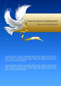 Dove of Peace Word Template, Cover Page, 02810, Religious/Spiritual — PoweredTemplate.com