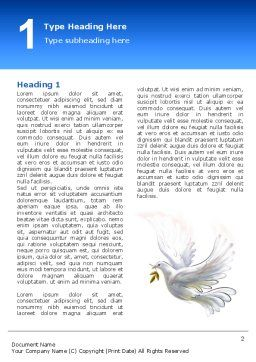 Dove of Peace Word Template First Inner Page