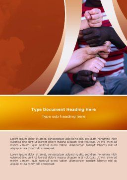 Friendship Word Template, Cover Page, 02812, Education & Training — PoweredTemplate.com
