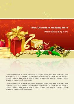 Holiday Season Word Template, Cover Page, 02813, Holiday/Special Occasion — PoweredTemplate.com