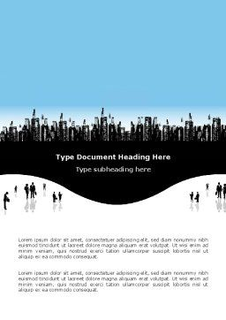 City Word Template, Cover Page, 02814, Business — PoweredTemplate.com