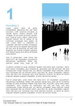 City Word Template, First Inner Page, 02814, Business — PoweredTemplate.com