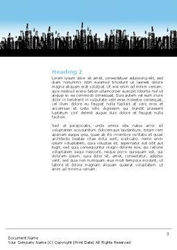 City Word Template, Second Inner Page, 02814, Business — PoweredTemplate.com