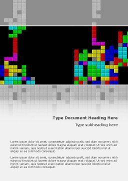 Tetris Free Word Template, Cover Page, 02818, Technology, Science & Computers — PoweredTemplate.com