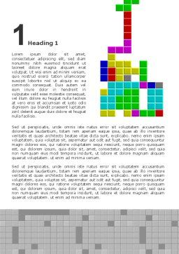 Free Tetris Word Template, First Inner Page, 02818, Technology, Science & Computers — PoweredTemplate.com