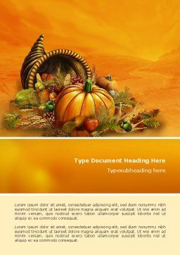 Thanksgiving Day Word Template, Cover Page, 02819, Holiday/Special Occasion — PoweredTemplate.com