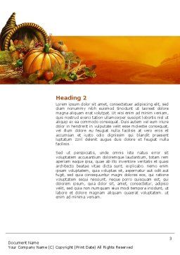 Thanksgiving Day Word Template, Second Inner Page, 02819, Holiday/Special Occasion — PoweredTemplate.com