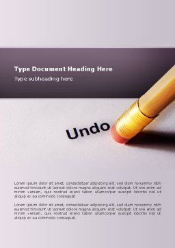 Undo Word Template, Cover Page, 02820, Business Concepts — PoweredTemplate.com