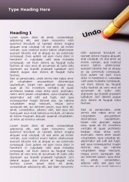Undo Word Template, First Inner Page, 02820, Business Concepts — PoweredTemplate.com
