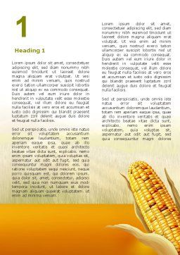 Free Corn Thanksgiving Word Template First Inner Page
