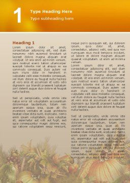 Autumn Harvest Word Template First Inner Page