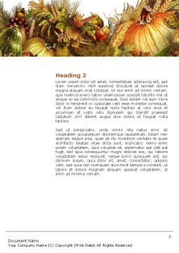 Autumn Harvest Word Template Second Inner Page