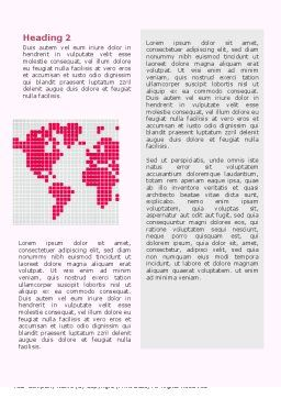 Crimson World Word Template, Second Inner Page, 02828, Global — PoweredTemplate.com