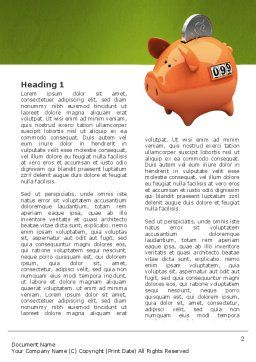 Piggy-bank Word Template, First Inner Page, 02832, Financial/Accounting — PoweredTemplate.com