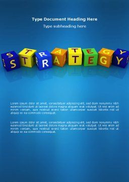 Business Strategy Education Word Template, Cover Page, 02836, 3D — PoweredTemplate.com