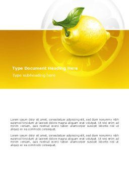 Yellow Lemon Word Template, Cover Page, 02841, Agriculture and Animals — PoweredTemplate.com