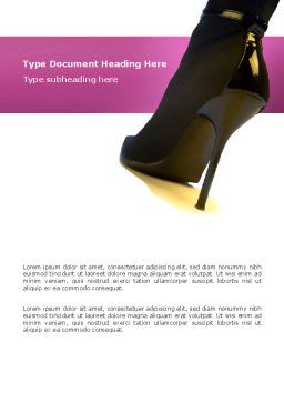 Shoes Word Template, Cover Page, 02842, Careers/Industry — PoweredTemplate.com
