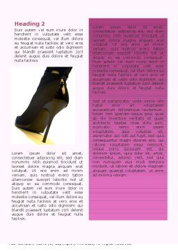 Shoes Word Template Second Inner Page