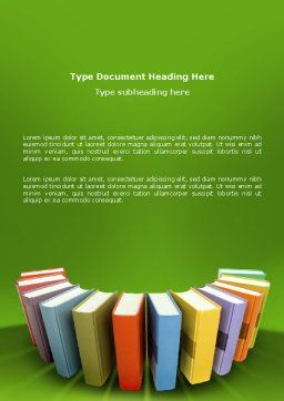 Books Word Template, Cover Page, 02844, Education & Training — PoweredTemplate.com