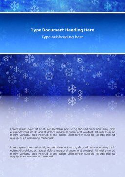 Snowflakes Word Template, Cover Page, 02846, Holiday/Special Occasion — PoweredTemplate.com