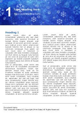 Snowflakes Word Template, First Inner Page, 02846, Holiday/Special Occasion — PoweredTemplate.com