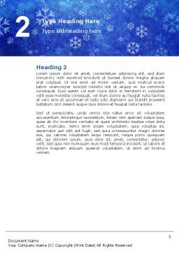 Snowflakes Word Template, Second Inner Page, 02846, Holiday/Special Occasion — PoweredTemplate.com