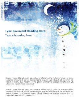 Snowman Word Template Cover Page