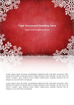 Christmas Theme Word Template Cover Page