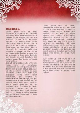 Christmas Theme Word Template First Inner Page
