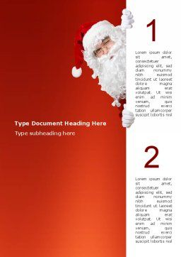 Santa Around the Corner Word Template, Cover Page, 02849, Holiday/Special Occasion — PoweredTemplate.com