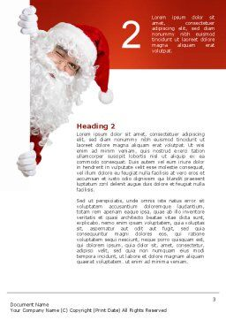 Santa Around the Corner Word Template, Second Inner Page, 02849, Holiday/Special Occasion — PoweredTemplate.com