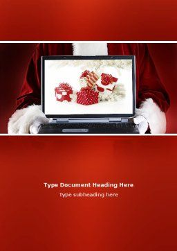 Christmas Presents Online Word Template, Cover Page, 02852, Holiday/Special Occasion — PoweredTemplate.com