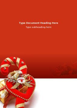 Christmas Candies Word Template, Cover Page, 02854, Holiday/Special Occasion — PoweredTemplate.com