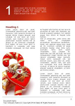 Christmas Candies Word Template, First Inner Page, 02854, Holiday/Special Occasion — PoweredTemplate.com