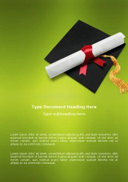 Certificate of Degree Word Template Cover Page