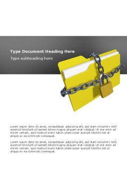 Secured Folder Word Template, Cover Page, 02859, Technology, Science & Computers — PoweredTemplate.com