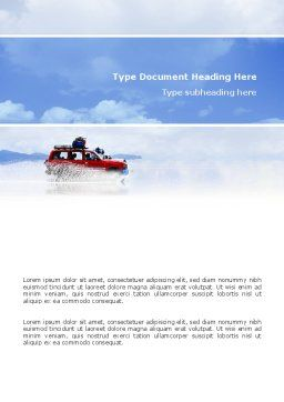 Off-road Word Template, Cover Page, 02860, Sports — PoweredTemplate.com