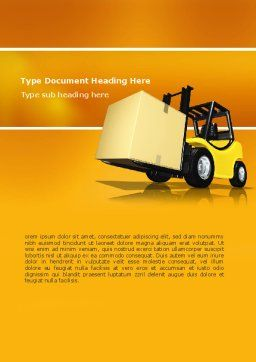 Yellow Loader Word Template, Cover Page, 02863, Cars/Transportation — PoweredTemplate.com