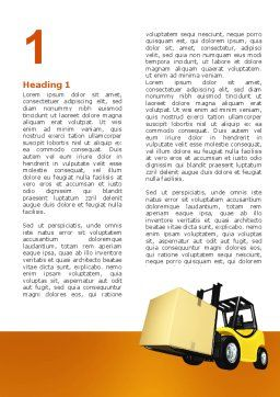 Yellow Loader Word Template, First Inner Page, 02863, Cars/Transportation — PoweredTemplate.com