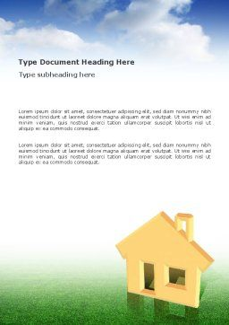 Accommodation Word Template, Cover Page, 02866, Business — PoweredTemplate.com