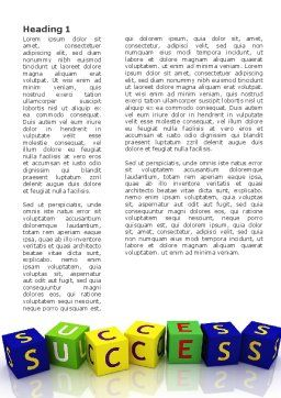 Success Word Template, First Inner Page, 02869, 3D — PoweredTemplate.com