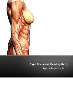 Female Anatomy Muscular Corset Word Template, Cover Page, 02872, Medical — PoweredTemplate.com