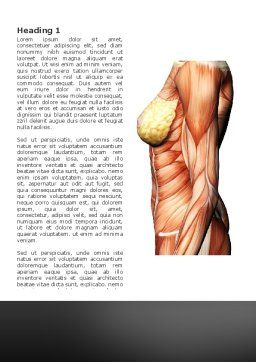 Female Anatomy Muscular Corset Word Template, First Inner Page, 02872, Medical — PoweredTemplate.com
