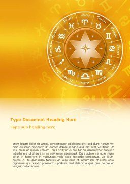 Zodiac Word Template, Cover Page, 02874, Religious/Spiritual — PoweredTemplate.com