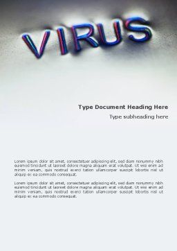 Virus Sign Word Template, Cover Page, 02875, Medical — PoweredTemplate.com