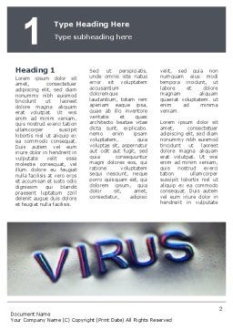 Virus Sign Word Template, First Inner Page, 02875, Medical — PoweredTemplate.com